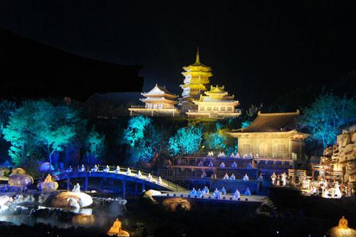 橙光古风背景素材网盘; 少林武术节嘉宾观赏《禅宗少林音乐大典》;