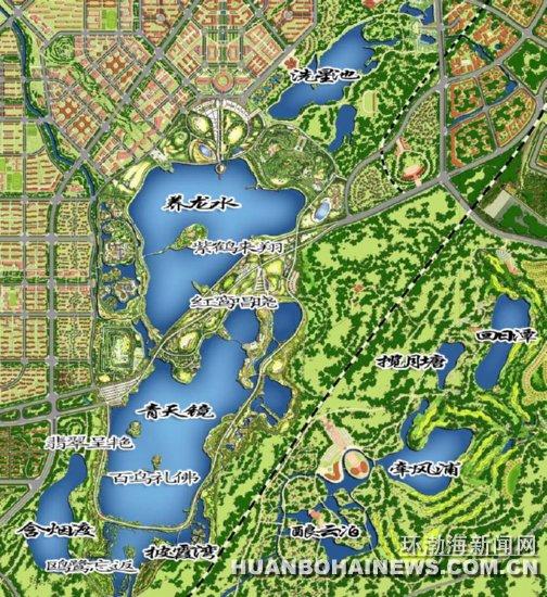 唐山南湖景区地图