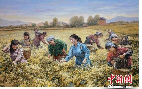 """油画勾勒""""中国梦"""""""